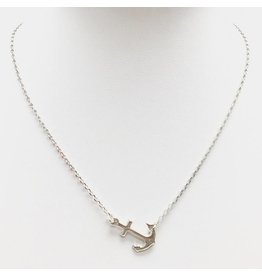 Tilted Anchor Necklace