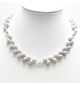 White Potato Double Pearl Necklace