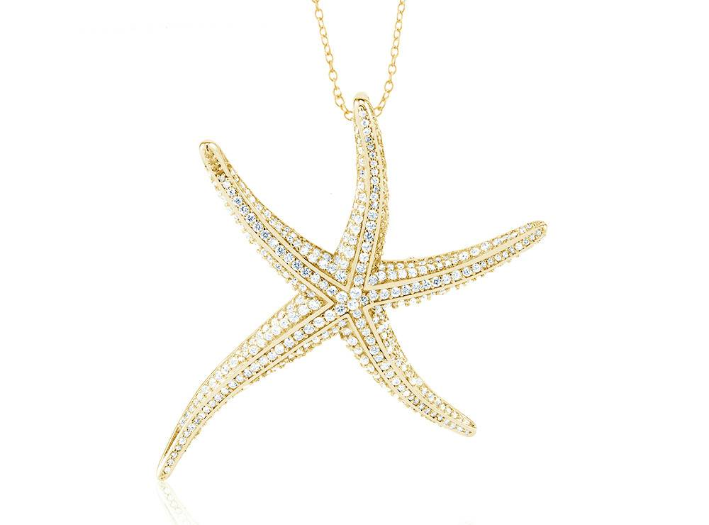 Starfish - Large CZ Gold Filled