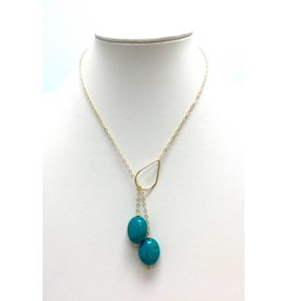 Turquoise (H) Gold Filled Lariat