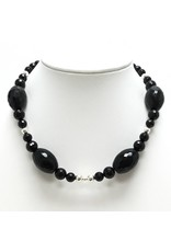 Black Onyx Beaded Choker