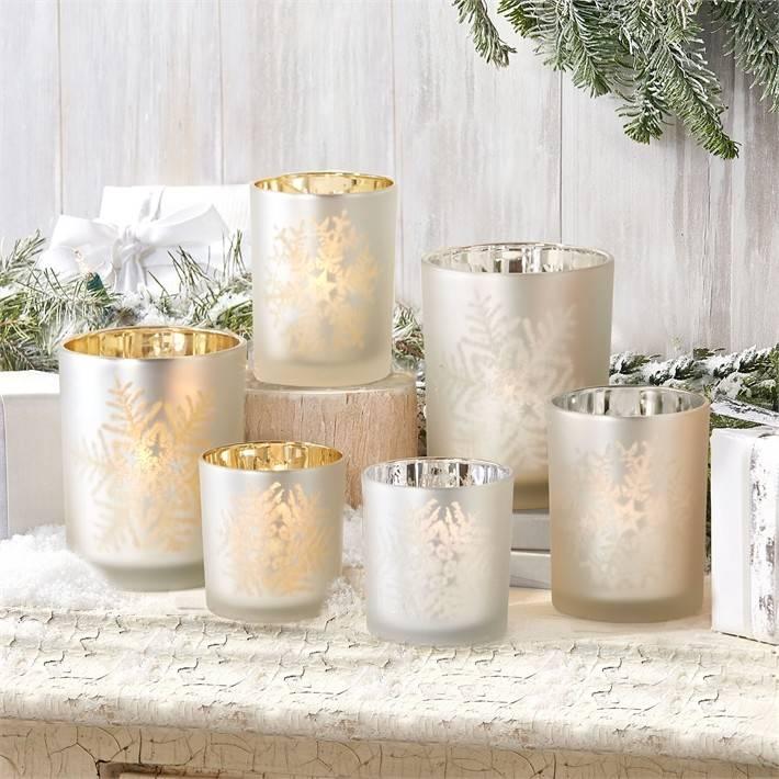 Medium Snowflake Candle Holder