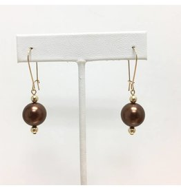Bronze Shell Pearl Drop
