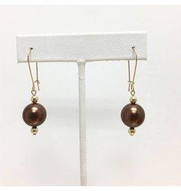 Bronze Shell Pearl Drop