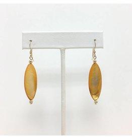 Burnt Orange Marquee Earrings