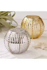 Gold Sea Urchin Candle Holder
