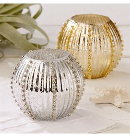 Silver Sea Urchin Candle Holder