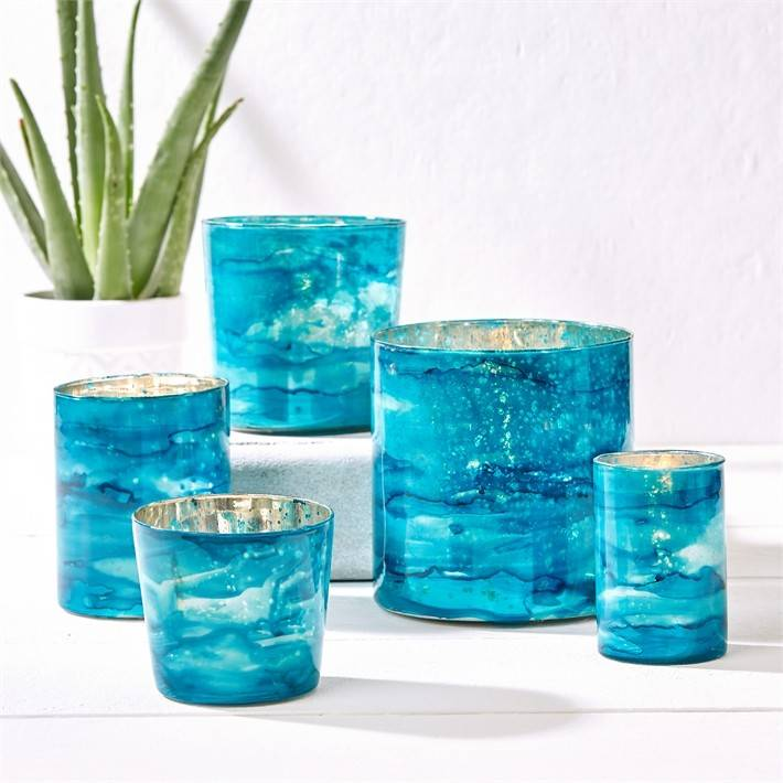 Azure Medium Candle Holder