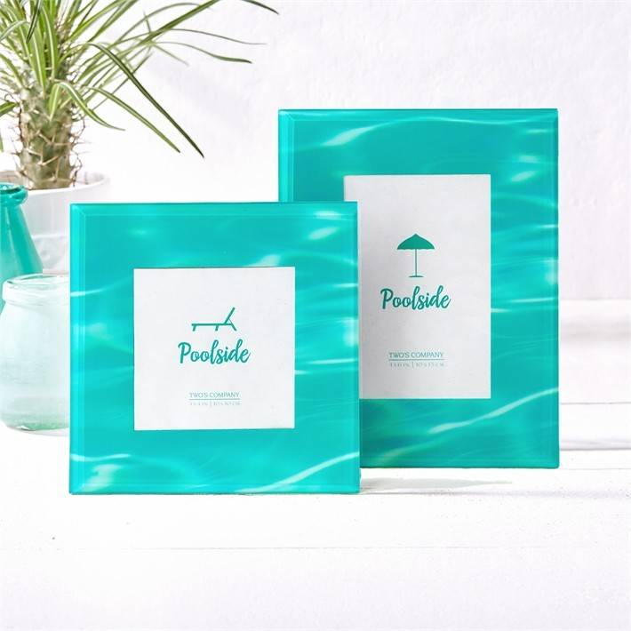 Poolside Glass Picture Frame- Large