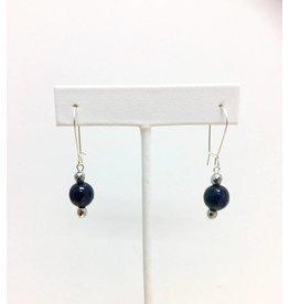 Blue Goldstone & Hematite Earrings