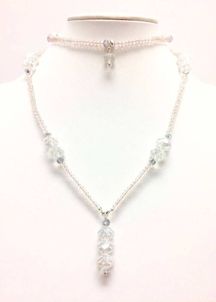 Tearose Pink & Clear AB Crystal