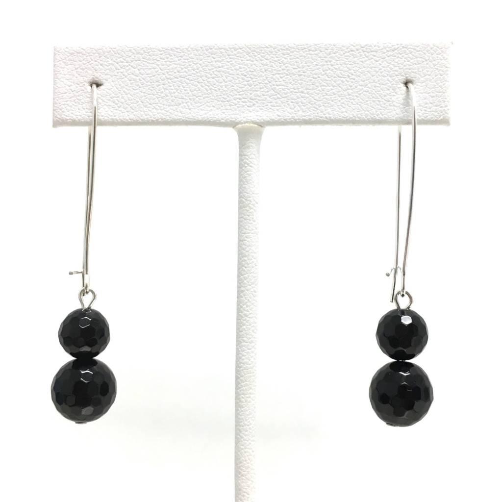 Black Onyx Double Dangle Earring