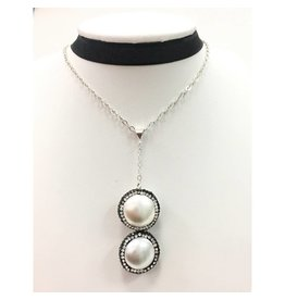 Choker with Drop Shell Pearl