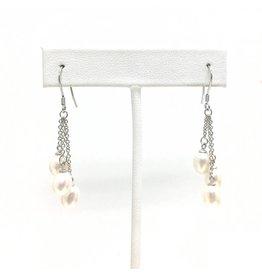 Triple Pearl Drop Earrings