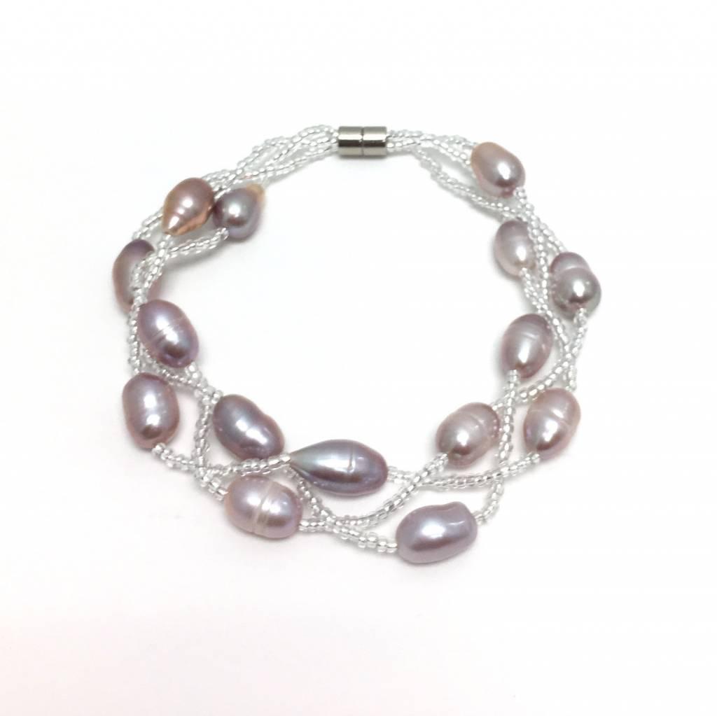 Triple Strand Pearl Bracelet