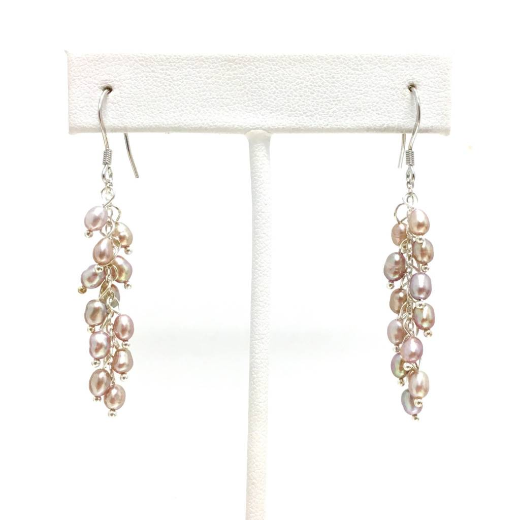 Cluster Pearl Earrings