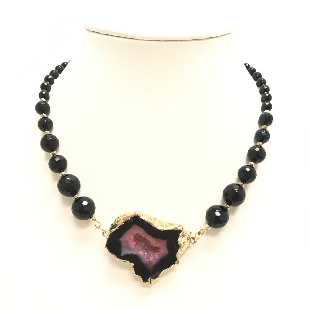 jewellery jewelry onyx by fashion necklaces necklace allaia with handmade black gold product