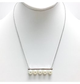 5 Pearl Bar Necklace