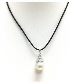 USA Pearl Co. CZ Tahitian White Pearl