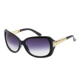 Black With Gold Accent Sunglasses