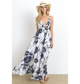 Hommage Ivory & Black Floral Maxi