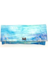 Hand Painted Canvas Clutch