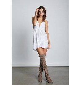 Cotton Candy LA White Desert Days Halter-Dress