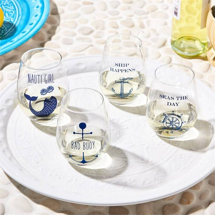 Ship Happens/Seas Day Glasses Set