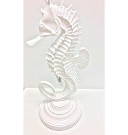 White Seahorse Statue