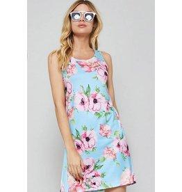 Promesa Pink Flower Print Shift Dress