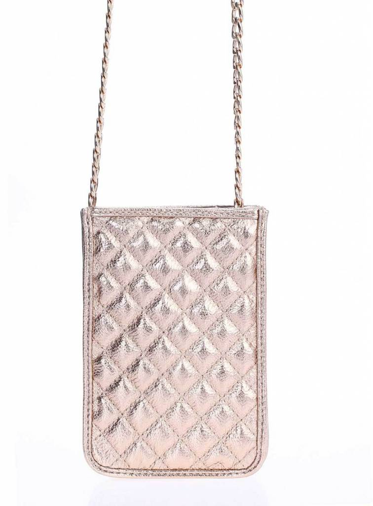 Rose Gold Quilted Cross Body