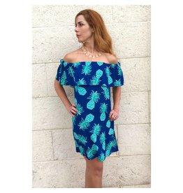 April Dress Agean Blue/Turq. Tropicana
