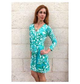 Turquoise/Aqua Jungle Hepburn Dress