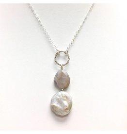 Moonstone & Biwa Keshi Pearl Drop