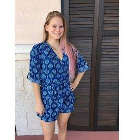 Agean Blue/Seaglass Naomi Romper