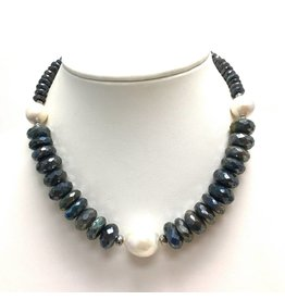 Faceted Labradorite & Baroque Pearl