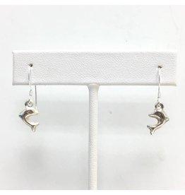 Sterling Dolphin Earrings SM