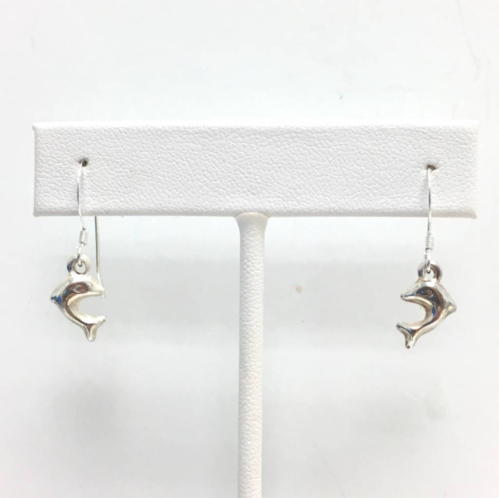 Sterling Dolphin Earrings SM