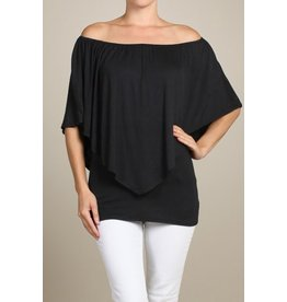 Convertible Poncho Top Black