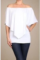 Convertible Poncho Top White