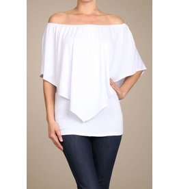 Convertible Poncho Top White