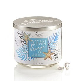 Secret Jewels 3 Wick Candle Ocean Breeze