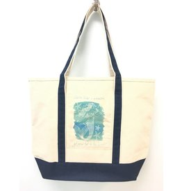 "Mariasch ""Advice from a Mermaid"" Navy Canvas Tote"