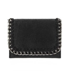 Black Foldover Chain Wallet