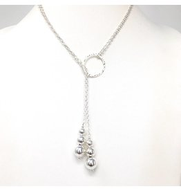 Double Strand Sterling Lariat