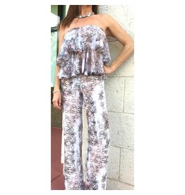 Soft Snake Strapless Jumpsuit/Small