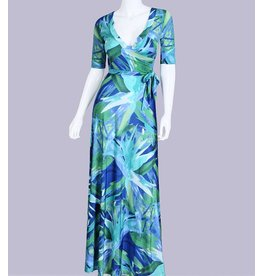 Abstract Floral Faux Maxi