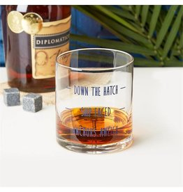 """Down the Hatch"" Glass"