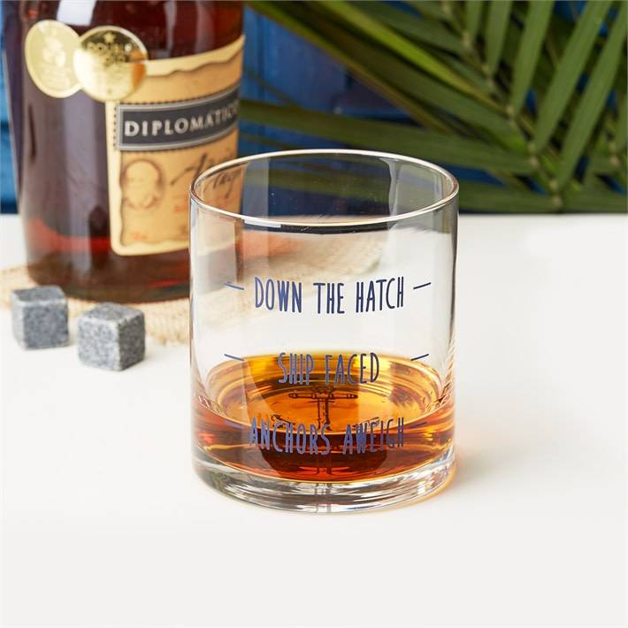 """""""Down the Hatch"""" Glass"""