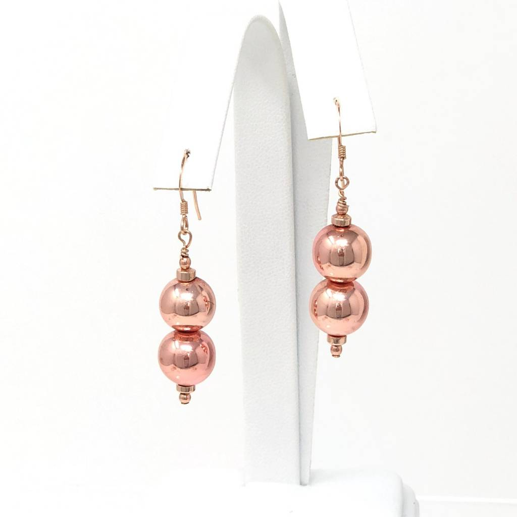Rose Gold Hrematite Earrings